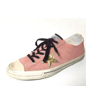 Golden Goose V Star 2 Suede Sneakers Pink Size 40